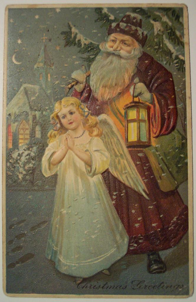 Mikulás angyali kísérettel