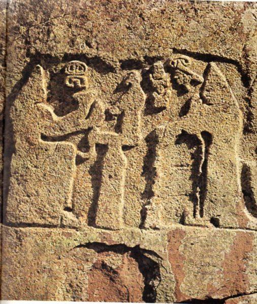 Arinna istennő fogadja az áldozatot