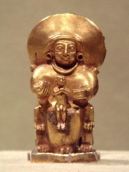 Arinna istennő aranyszobra