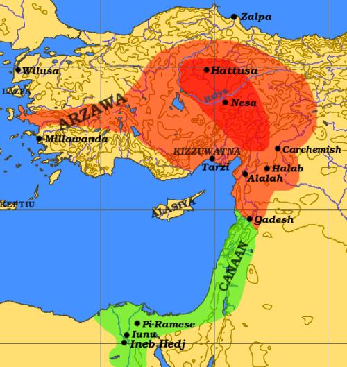 Hettita Birodalom i.e. 1800-1200 között