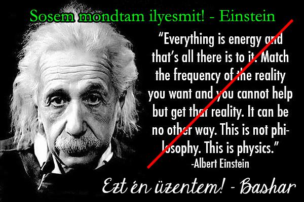 Einstein szerint emelned kell a frekvenciád - kár, hogy Einstein sosem mondott ilyet