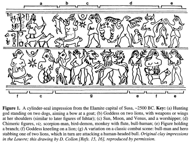 Az asztrológia kezdete - Szúzai pecséthenger