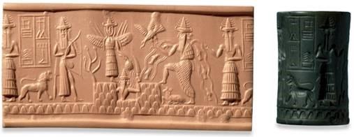 Az asztrológia kezdete - Adda pecsétje, Akkád, Kr.e. 2300-2200.