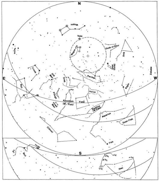 Az asztrológia kezdete - Mezopotámia éjszakai égboltja, i.e. 2800 táján