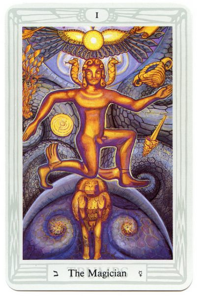 Crowley Thoth Tarot: Nagy Arkanum - I. A Mágus