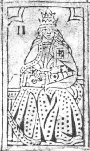 A legkorábbi ismert, 16. századi Főpapnő lap