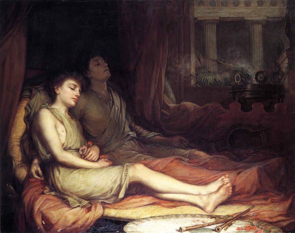 Waterhouse: Alvás és féltestvére, Halál. 1874