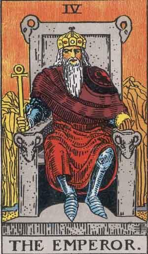 A Császár jellegzetességét a szellem világában a trónjára, vagy pajzsára vésett jel tudatja.
