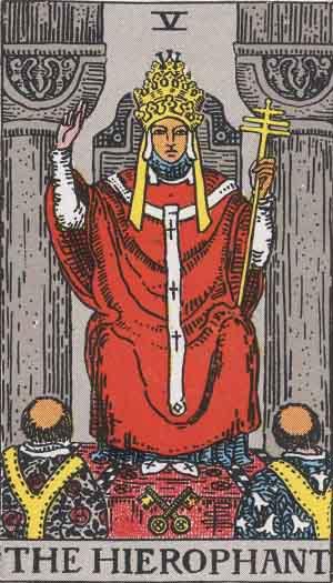 A főpap a tarot morális tanításai közé tartozik.