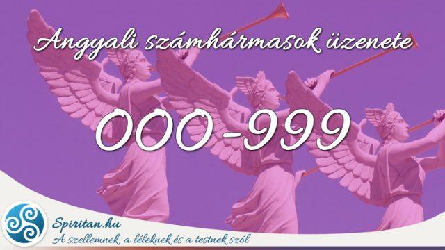 Angyali számhármasok üzenete 000-999