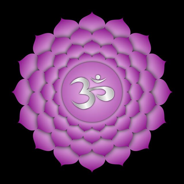 A szahaszrára csakrában ezerlevelű lótusz nyílik, a tudat tökéletes kiteljesedésének szimbólumaként