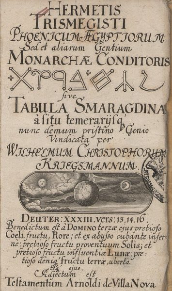A Smaragdtábla fennmaradt szövege latinul és magyarul