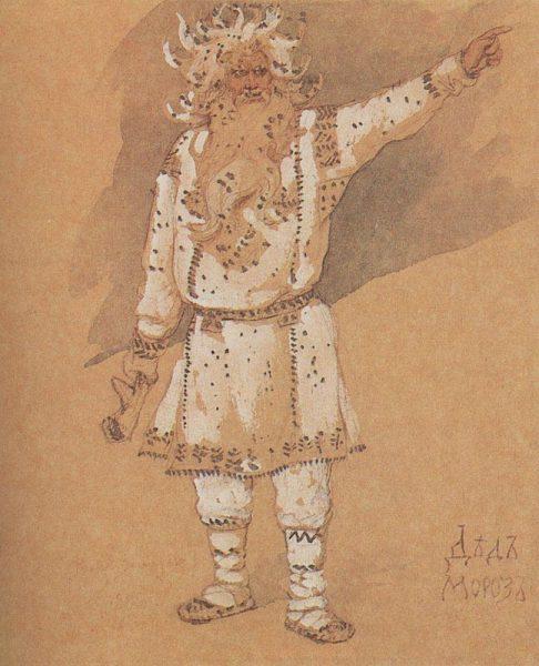 Fagy Apó (Gyed Moroz - Дед Мороз) egy 1885-ös orosz illusztráción