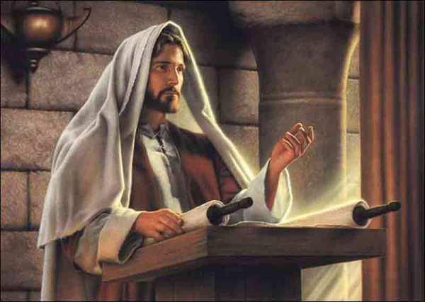 Jézus a zsinagógában tanít