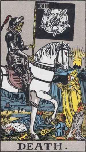 Rider-Waite Tarot, XIII Halál