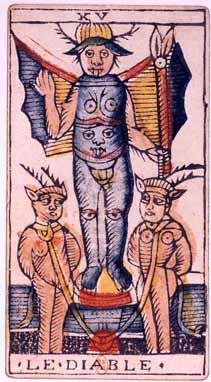 Jean Dodal Tarot XV. Az Ördög lapja