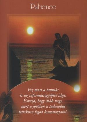 Második angyalkártya: Patience