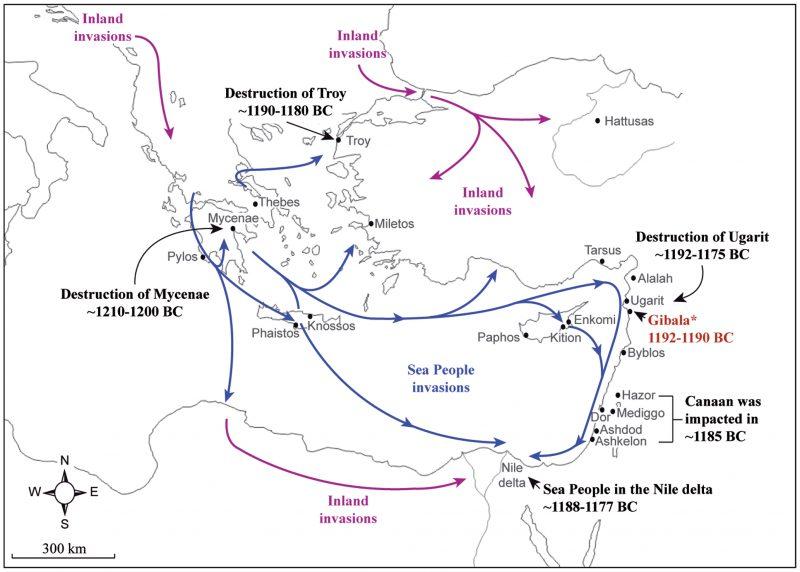 A tengeri népek ismeretlen helyről jöttek