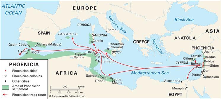 A föniciaiak jócskán eljutottak a Gibraltári szoroson túlra is