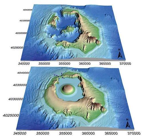 Théra a vulkáni kataklizma előtt
