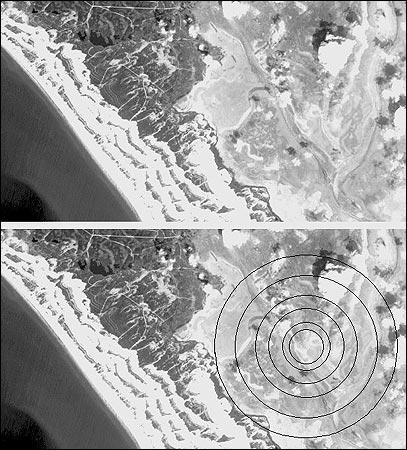 """""""nem hajózható és nem kutatható át az ottani tenger még ma sem, mert akadályoz a nagyon sekélyes iszap, amelyet a süllyedő sziget halmozott fel."""""""